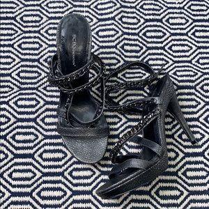 BCBGENERATION • Wren Chain Strappy Gunmetal Heels